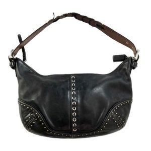 Coach Vintage Leather Black Hobo Shoulder Bag